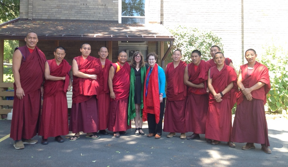 Rev. Mary and Kelly Murphy with Tibetan Monks at Unity of Buffalo